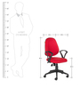 Cameron Office Chair in Red Colour by The Furniture Store
