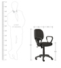 Cameron Office Chair with Stripes Design by The Furniture Store