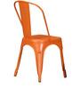 Ekati Metal Chair in Orange Color with Eyelet by Bohemiana
