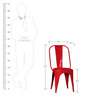Ekati Metal Chair in Red Color by Bohemiana