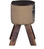 Jazmine Stool in Camel Color by Bohemiana