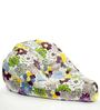 Canvas XXL Bean Bag with Multicolour Floral Design by Story@Home