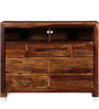 Edmonds Entertainment Unit in Provincial Teak Finish by Woodsworth