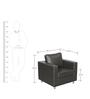 Carbo One Seater Sofa in Black Colour by Godrej Interio