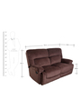 Cardiff Two Seater Recliner Sofa in Chocolate Colour by Evok