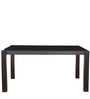 Carlton Black Glass Top Six Seater Dining Set in Wenge Colour by HomeTown