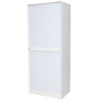 Carol High Gloss Two Door Wardrobe in White Colour by HomeTown
