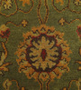 Carpet Overseas Green Wool 76 x 17 Inch Persian Design Hand Knotted Area Rug