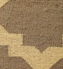 Carpet Overseas Grey & Ivory Jute 60 x 36 Inch Lattice Design Flatweave Area Rug