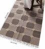 Carpet Overseas Grey Wool 60 x 36 Inch Box Design Flatweave Area Rug