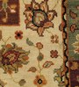 Carpet Overseas Multicolour Wool 66 x 46 Inch Panel Design Hand Knotted Area Rug