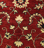 Carpet Overseas Red Wool 74 x 16 Inch Persian Design Hand Knotted Area Rug