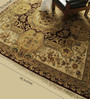 Carpet Overseas Red Wool 95 x 95 Inch Persian Design Hand Knotted Area Rug