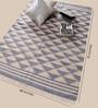 Carpet Overseas Sky & Blue Cotton 70 x 48 Inch Area Rug