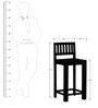 Amarillo Bar Chair in Espresso Walnut Finish by Woodsworth