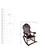 Carved Angoori Design Rocking Chair by Saaga