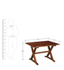 Casa Chavez 6-Seater Picnic Table Set in Provincial Teak Finish by Woodsworth