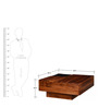 Medina Coffee Table in Provincial Teak Finish by Woodsworth