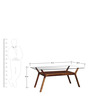 Kennewick Six Seater Dining Table in Provincial Teak Finish by Woodsworth