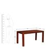 Toledo Six Seater Dining Table in Honey Oak Finish by Woodsworth