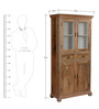 Avice  Hutch Cabinet in Natural Finish by Amberville