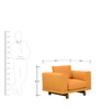 Catalunya One Seater Sofa in Apricot Colour by Casacraft