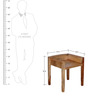 Oakland Contemporary Stool in Natural Mango Wood Finish by Woodsworth