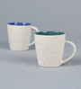Cdi Conical Design Multicoloured 200 ML Mugs with Marble Finish  Set of 6