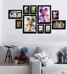 Art Street Collage Pictures Black Wood Photo Frame at pepperfry