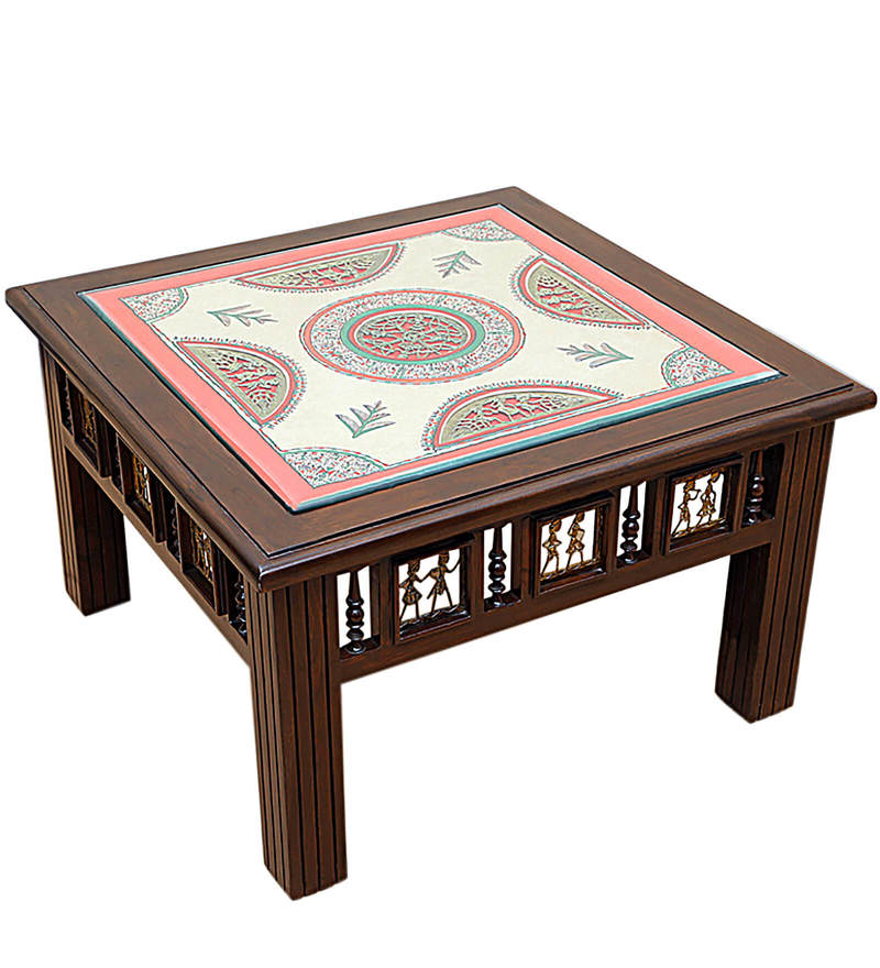 Buy Exclusivelane Teak Wood Coffee Centre Table In Walnut Finish Online Indian Ethnic