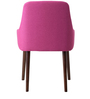 Celano Arm Chair (Set of 2) in Pink Colour with Cappucino Legs by CasaCraft
