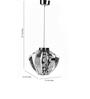 Celentano Ceiling Lamp in Chrome by Bohemiana