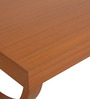 Console Table with X Shape Legs in Brown Colour by FurnitureTech