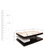Centre Table in Walnut Finish by Lakkarhara