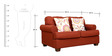 Charlotte Fabric Two Seater Sofa in Rust Colour by HomeTown