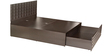 Chocolate King Bed with Storage in Cola Rain Finish by Godrej Interio