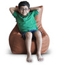 Chair Bean Bag (Cover Only) L size in Tan Colour  by Style Homez
