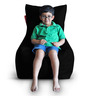 Chair Bean Bag (Cover Only) XL size in Black Colour  by Style Homez