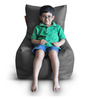 Chair Bean Bag (Cover Only) XL size in Grey Colour  by Style Homez