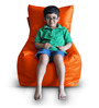 Chair Bean Bag (Cover Only) XL size in Orange Colour  by Style Homez