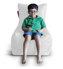 Chair Bean Bag (Cover Only) XL size in White Colour  by Style Homez