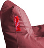 Chair Bean Bag L size in Maroon Colour with Beans by Style Homez