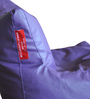 Chair Bean Bag L size in Purple Colour with Beans by Style Homez