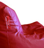 Chair Bean Bag XL size in Red Colour with Beans by Style Homez