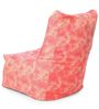 Chair Cotton Canvas Abstract Design Bean Bag XXL Size with Beans by Style Homez