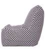 Chair Cotton Canvas Checkered Printed Bean Bag XXL Size Cover Only by Style Homez