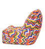 Chair Cotton Canvas Geometric Design Bean Bag XXL Size Cover Only by Style Homez
