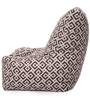 Chair Cotton Canvas Geometric Design Bean Bag XXL Size with Beans by Style Homez