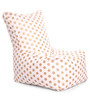 Chair Cotton Canvas Polka Dots Design Bean Bag XXL Size Cover Only by Style Homez