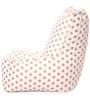 Chair Cotton Canvas Polka Dots Design Bean Bag XXL Size with Beans by Style Homez